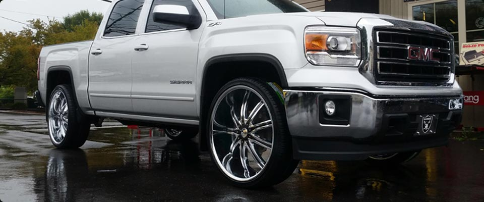 "GMC Sierra Truck with 26"" Rims"